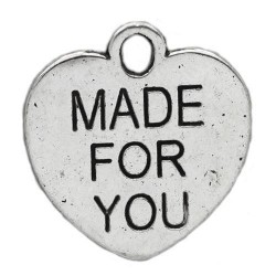 Charm - made for you - 15 mm - 2 stycken