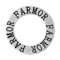 Ring med text - farmor