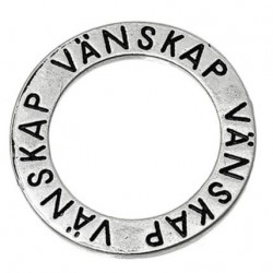 Ring med text - vänskap