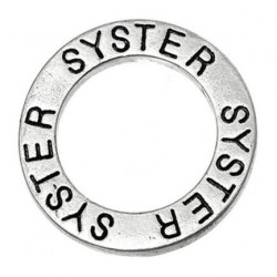 Ring med text - syster