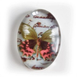 Cabochon glaslins - 18 mm