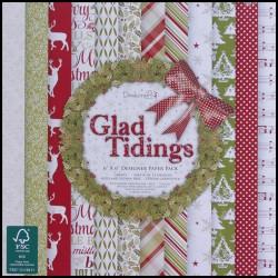 12 papper Dovecraft - Glad Tidings - 15 X 15 cm.