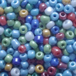 Seedbeads - glaspärlor - storpack - 1000 st - 4 mm