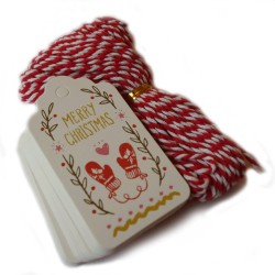 Tags - julklappsetiketter - 50-pack Merry christmas