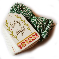 Tags - julklappsetiketter 50-pack Holy night
