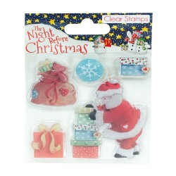 Clearstamps - Night before Christmas - Santa